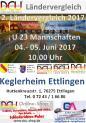 2. Ländervergleich der U 23 weiblich u. männlich Mannschaften vom 04. - 05. Juni 2017 in Ettlingen